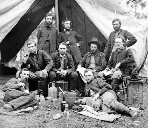 The-Peninsula-Va.-The-staff-of-Gen.-Fitz-John-Porter-Lts.-William-G.-Jones-and-George-A.-Custer-